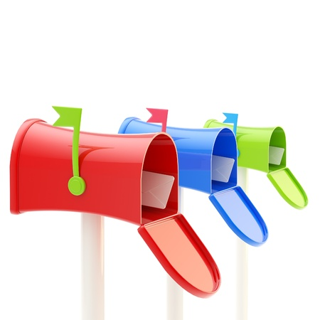 Three kinds of glossy mailboxes