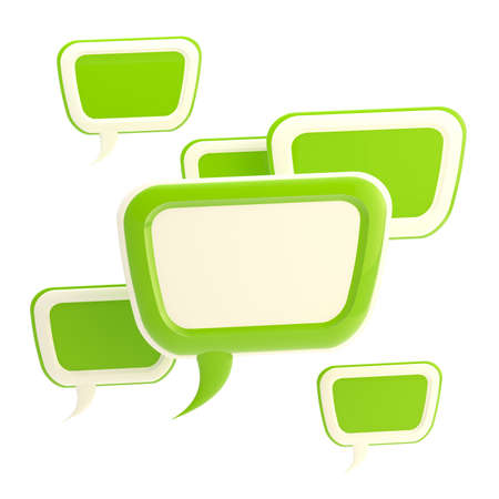 Abstract background made of text bubbles Stock Photo - 12448941