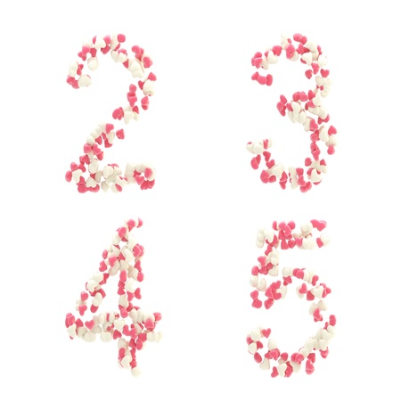 Valentine day love alphabet made of hearts Stock Photo - 12449036