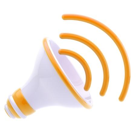 Stylized dynamic glossy speaker isolated Stock Photo - 12448925
