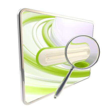 Pad search bar under the magnifier isolated photo