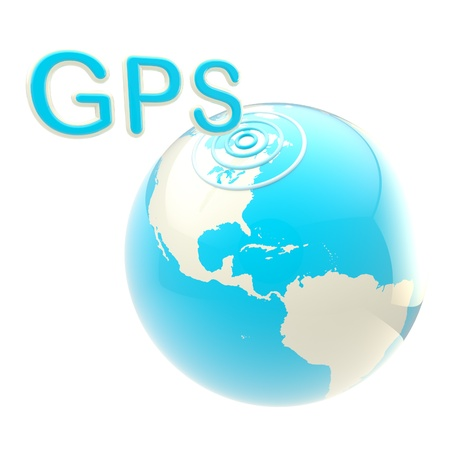 GPS emblem as the earth globe Stock Photo - 12449042