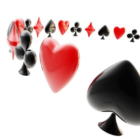 Background made of playing card suits photo