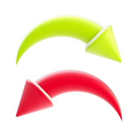 Redo and undo arrow icons isolated Stock Photo - 12448789