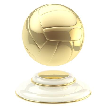 Golden volleyball ball champion goblet Imagens