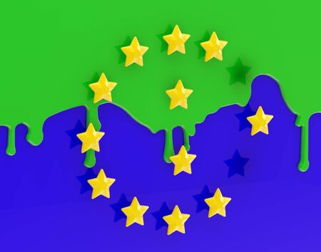 takeover: The Muslimization of Europe as coloured EU flag