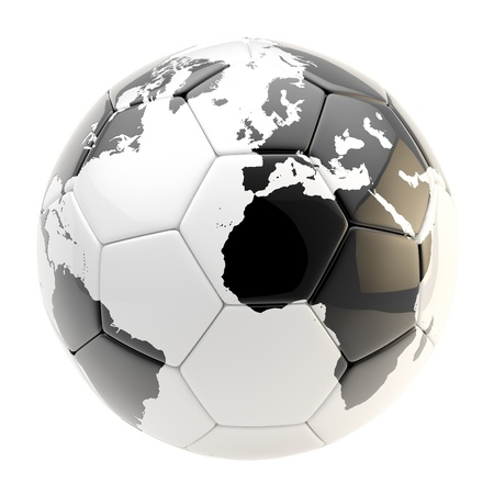 Football ball as an Earth planet sphere isolated photo