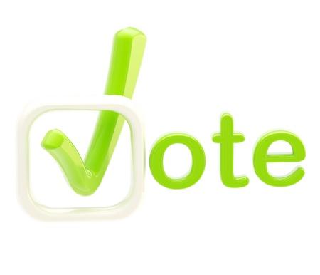 Vote emblem symbol isolated on white Stock Photo - 13092876