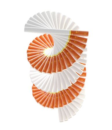 smokers: Smokers way  radial staircase made of cigarettes