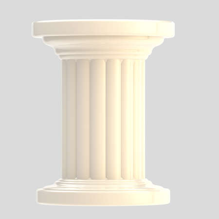 White glossy column pillar isolated photo
