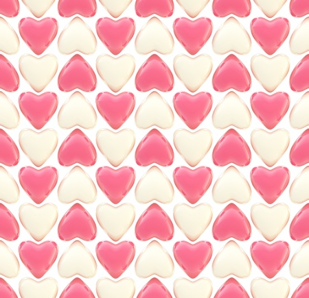 Seamless background texture made of love hearts Stock Photo - 13093221