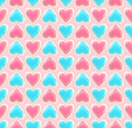Seamless background texture made of love hearts Stock Photo - 13093223