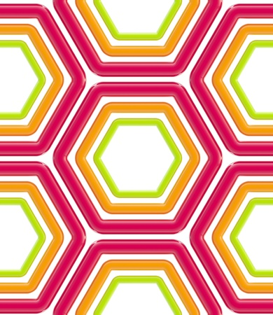 Seamless abstract hexagons background texture photo
