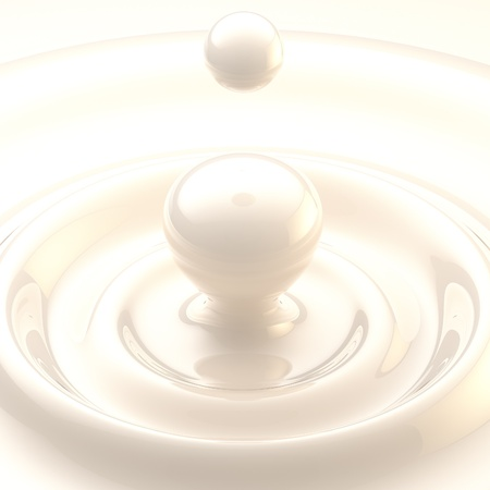 milk drop: Light background  cream or milk liquid drop Stock Photo