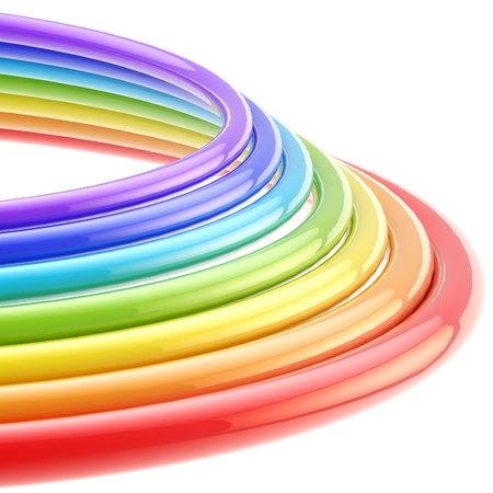 Abstract background  rainbow colored rings Stock Photo - 13093316
