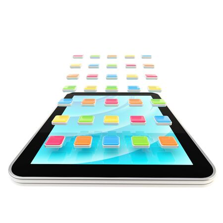 Mobile pad computer with applications photo
