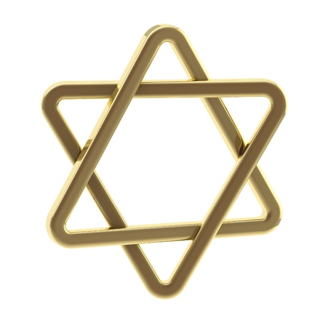 zion: Star of David symbol made of gold Stock Photo