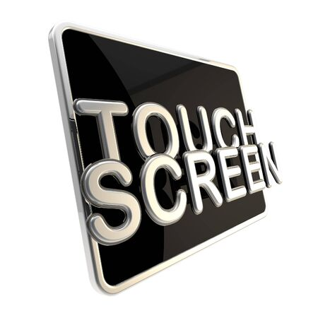Touch screen icon as a glossy pad Stock Photo - 13093116