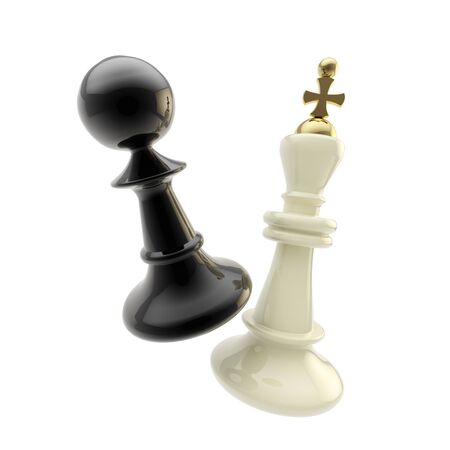 Contest and competition  pawn and king figures