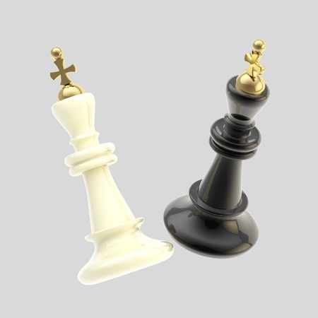 overthrow: Competition  black and white king figures