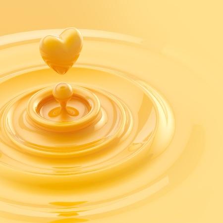 Heart like juice drop background