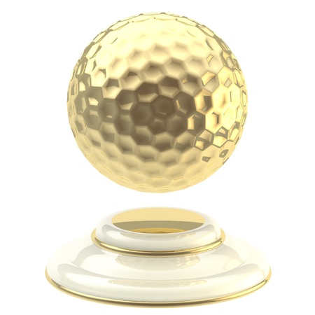 golden ball: Golden golf ball champion goblet