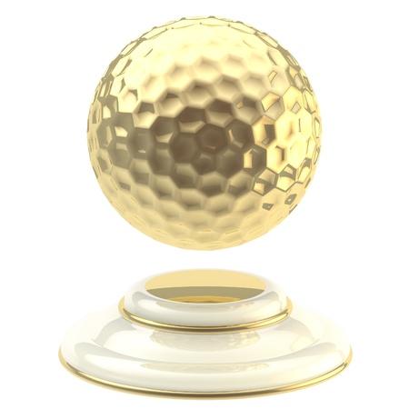 Golden golf ball champion goblet