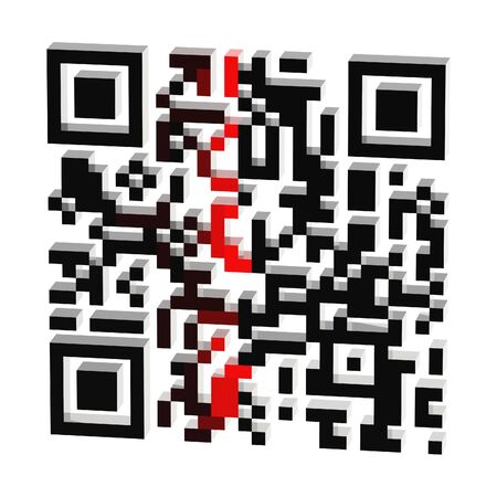 QR code scanning process isolated photo