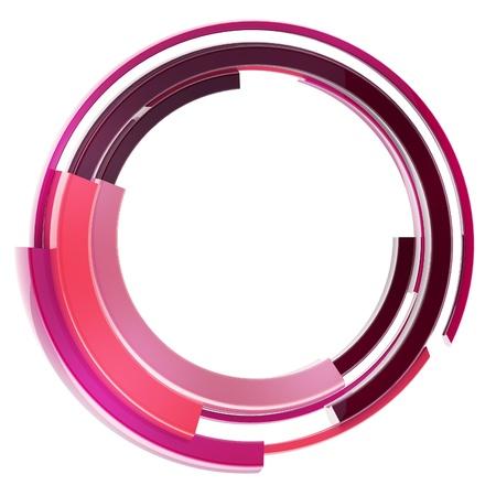 Abstract techno circular frame border isolated