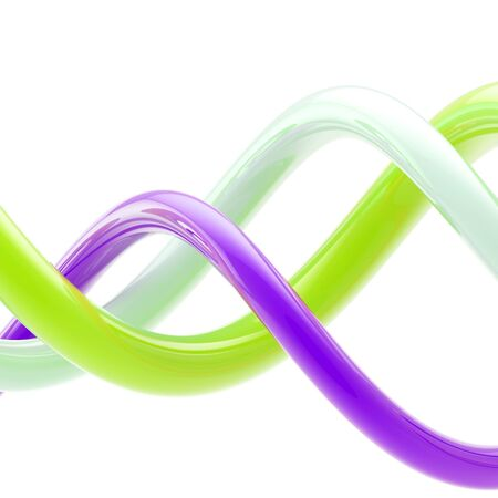 whorls: Abstract background made of bright plastic whorls Stock Photo