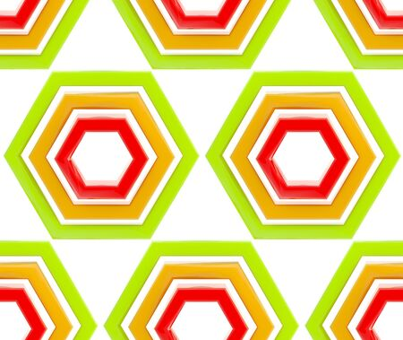 contrasts: Seamless abstract background texture made of bright glossy hexagons