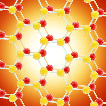 molecular structure: Abstract background made of molecular structure