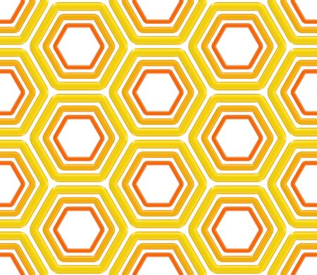 Seamless abstract background texture made of bright glossy hexagons photo