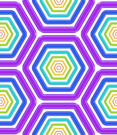 Seamless abstract hexagons background texture Stock Photo - 13145213