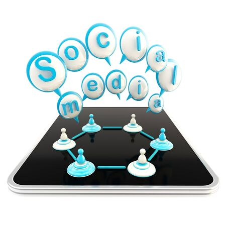 Social media technologies Stock Photo - 13145310