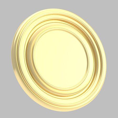 copyspase: Round copyspase circular plate isolated