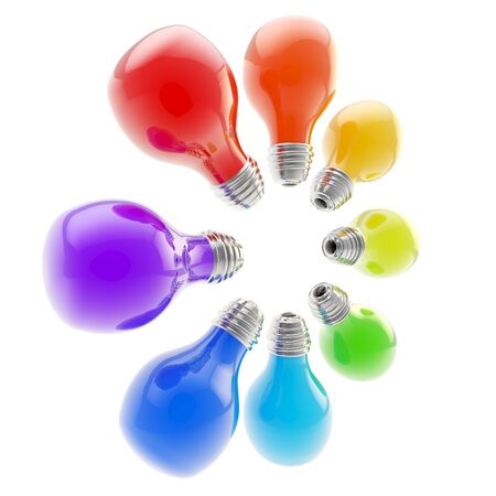 Electric bulbs arranged in a circle Stock Photo - 13145390