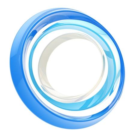 circular: Abstract circle frame made of rings