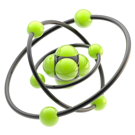 nano: Nano technology emblem as atomic structure