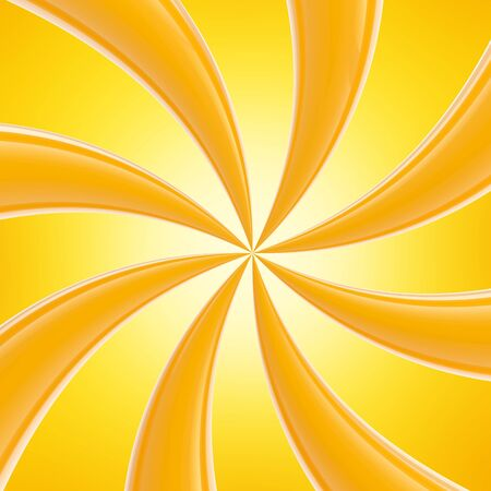 Abstract swirl background made of orange glossy curves