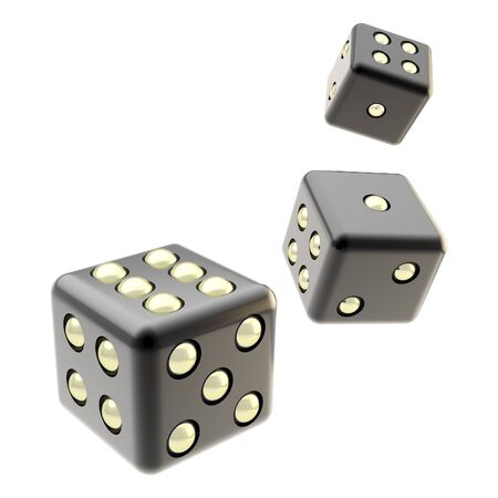 craps: Playing dices isolated on white