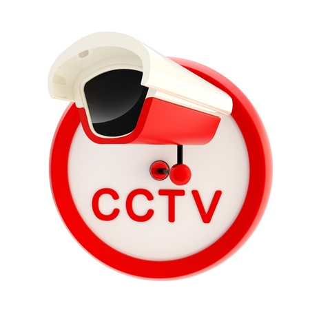 cctv security: Closed circuit television alert sign