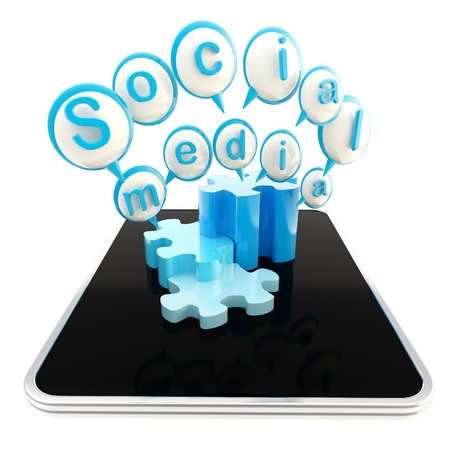 Social media technologies Stock Photo - 13229295