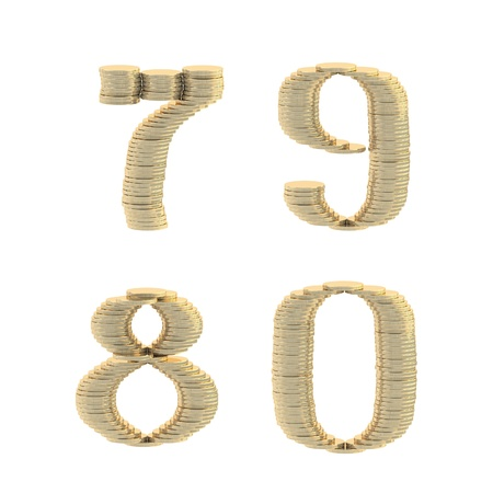 ABC alphabet symbols made of coins Stock Photo - 13229337