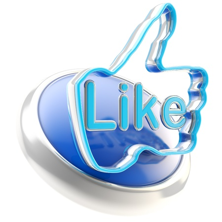 Glossy like button symbol isolated photo