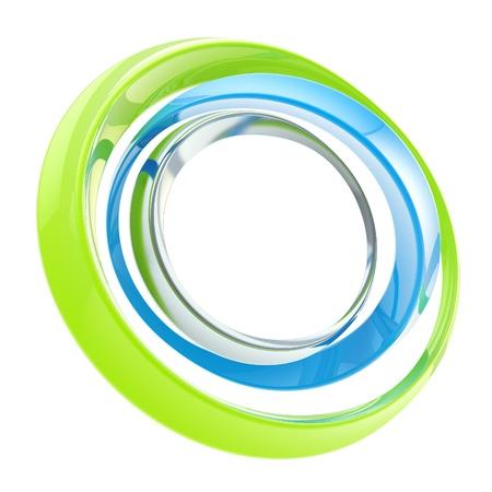 Abstract circle frame made of rings photo