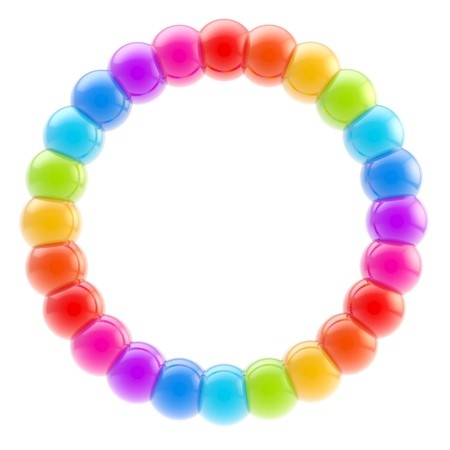 Round circle colorful frame isolated photo