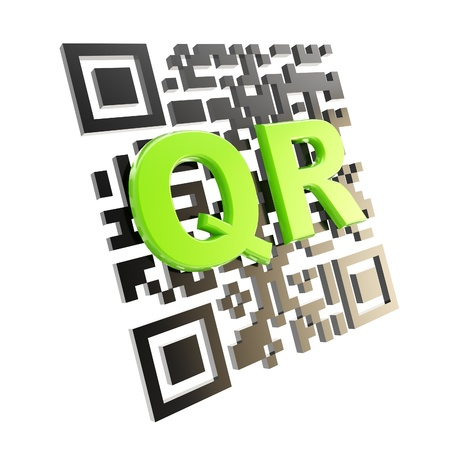 qr: QR code technology illustration isolated Stock Photo