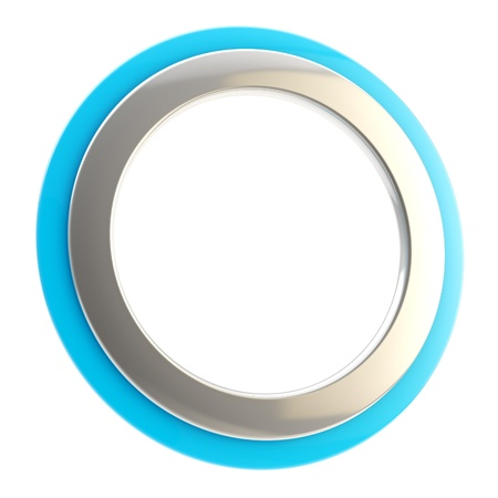 Copyspace circular frame isolated