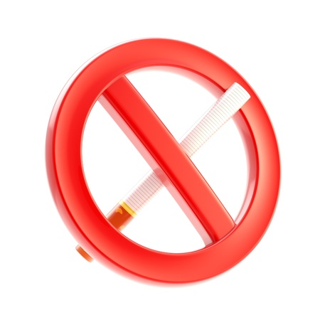 Smoking is not allowed forbidden sign Stock Photo - 13243391